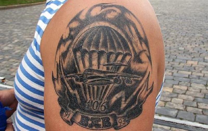 татуировки вдв на плечо картинки